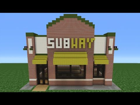Minecraft Tutorial: How To Make A Subway (Restaurant) - YouTube