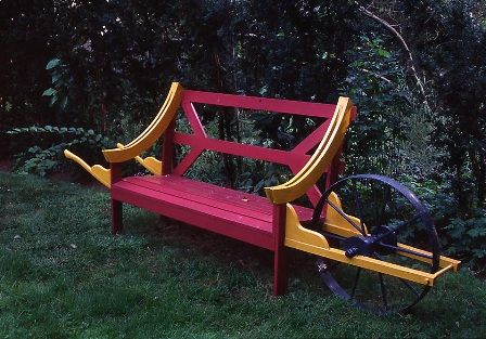 Wheelbarrow bench   How cool!