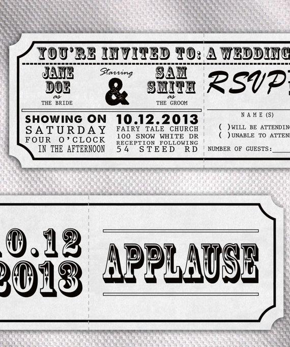 49 Best Movie Themed Wedding Invitations Images On Pinterest