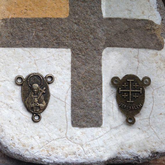 15 PCS 14mm height tiny antique bronze by CatholicHosannaGifts,