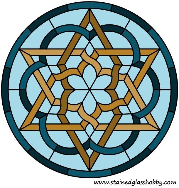 Panel redonda diseño céltico del nudo de la estrella