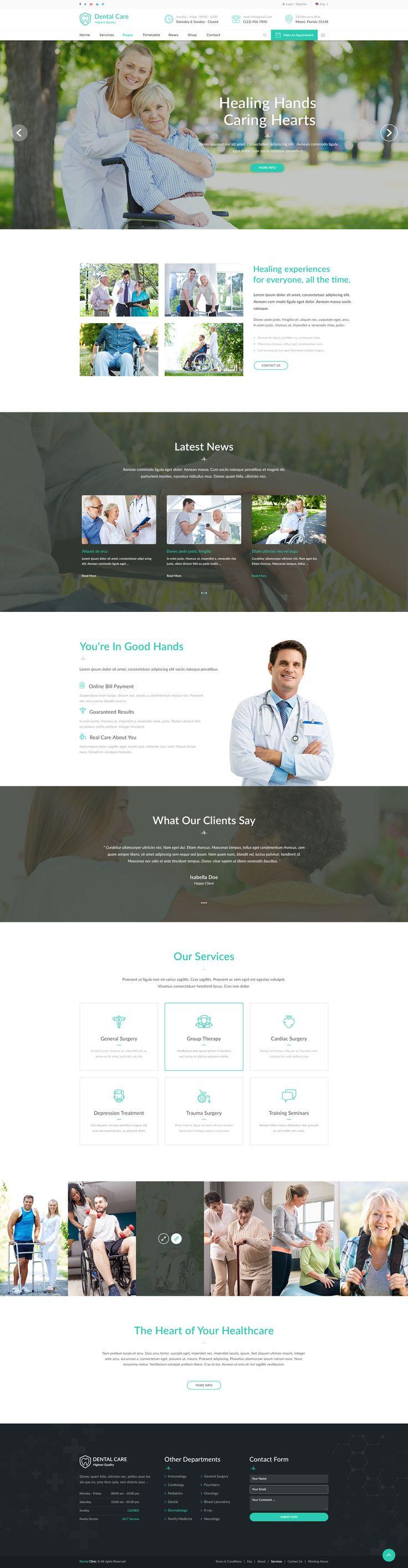 Creative PSD template 298 best medical website