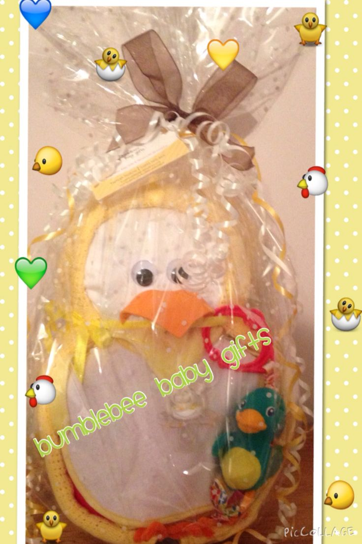 Easter chick nappy cake