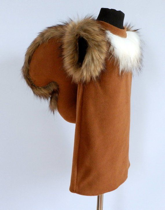 Squirrel girl costume/ Kids squirrel Costume/ squirrel dress up/ girl costume/ animal costume/ handmade costume / Halloween costume
