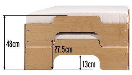 lits empilables Müller Möbel Stapelliege - hauteur & dimensions (Komfort vs. Klassik)