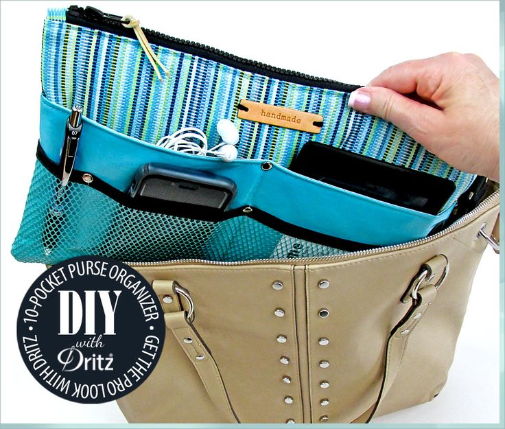 10-Pocket organizzatore della borsa: il tuo look Pro con Dritz Hardware |  Sew4Home
