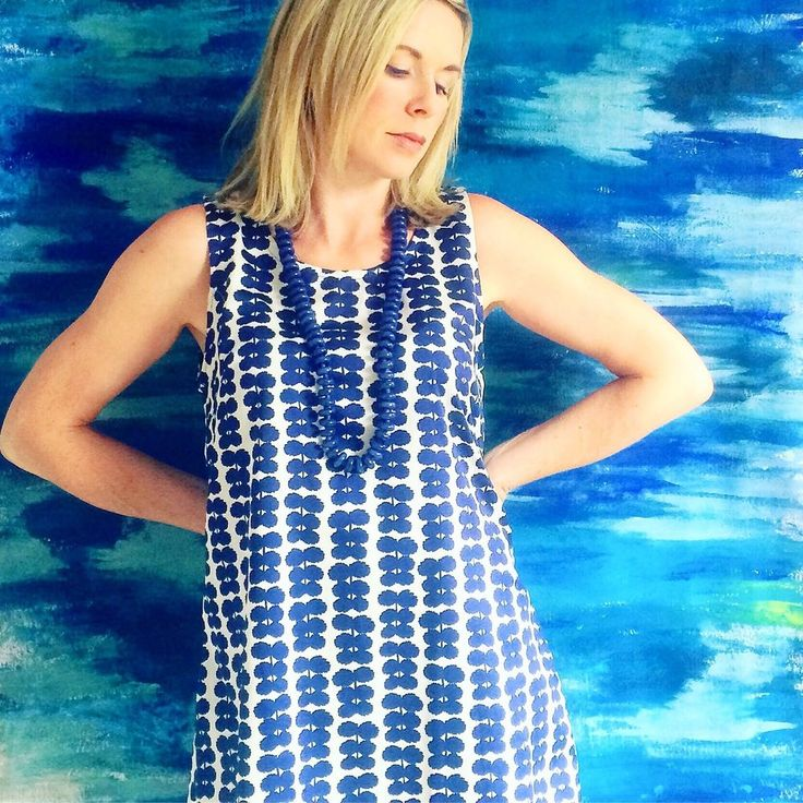 Beautiful Womens Dress made with MARIMEKKO LIGHT SATEEN FABRIC WITH TINY NAVY FLOWERS ON BEIGE FABRIC. Measurements are measured flat, then double that measurement for the bust, waist, and hips (bust is measured arm pit to arm pit then doubled). | eBay!