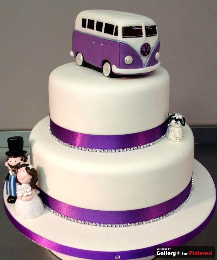Vw Campervan Wedding Cake Topper