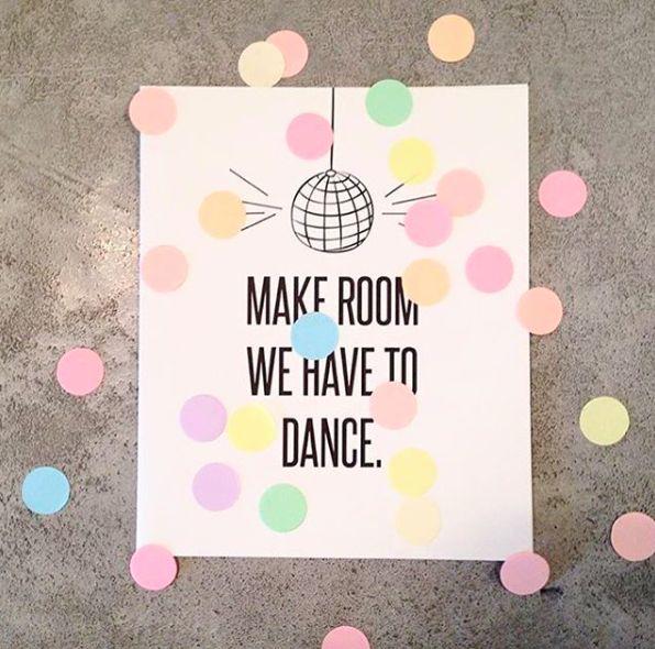 The Gift Label: Make room we have to dance  #regram @mintminimall #confetti #postcards #amsterdam #thegiftlabel #tgl #Pinterest #Pinteresttips #SocialMedia
