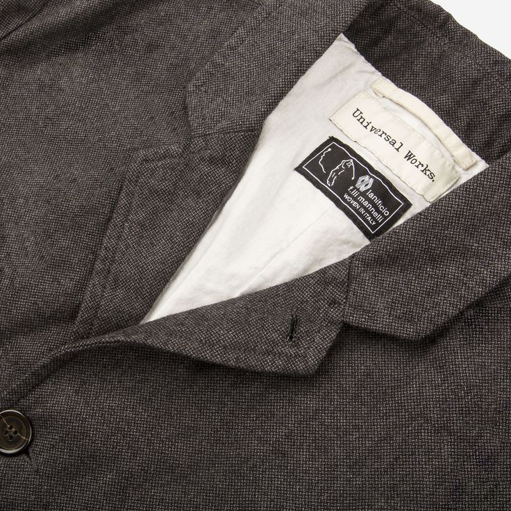Universal Works // Veta Suit Grey Jacket Close Up