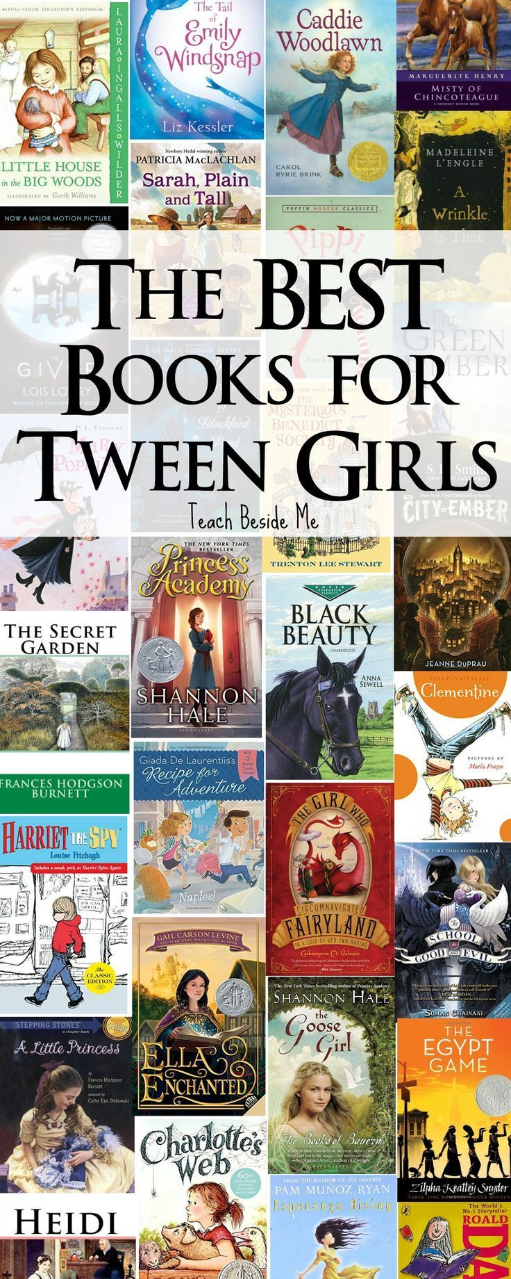 Awesome book list for tween girls (ages 8-12)