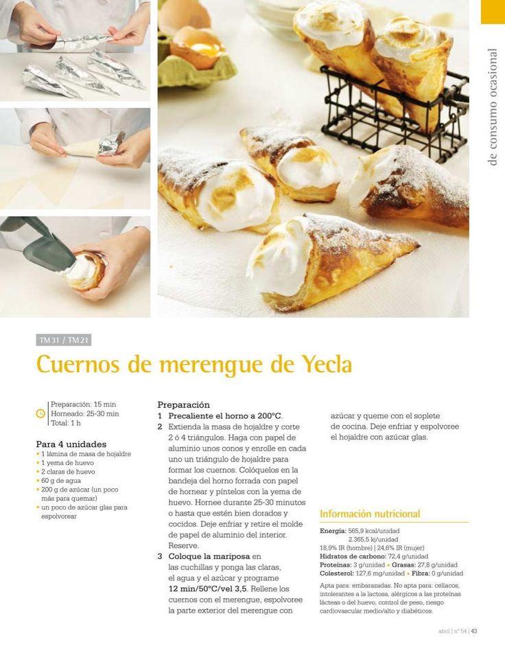 Cuernos de merengue de Yecla