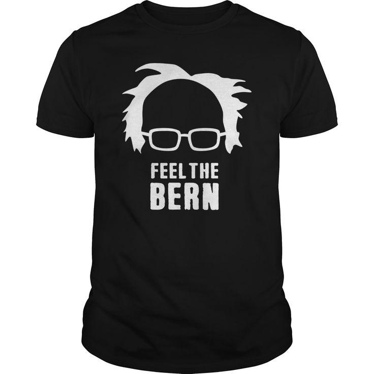Bernie sanders hair and glasses feel the bern tshirt