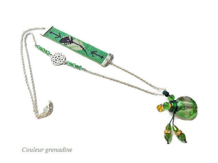 Collier diffuseur d'huiles essentielles : Collier par couleur-grenadine33