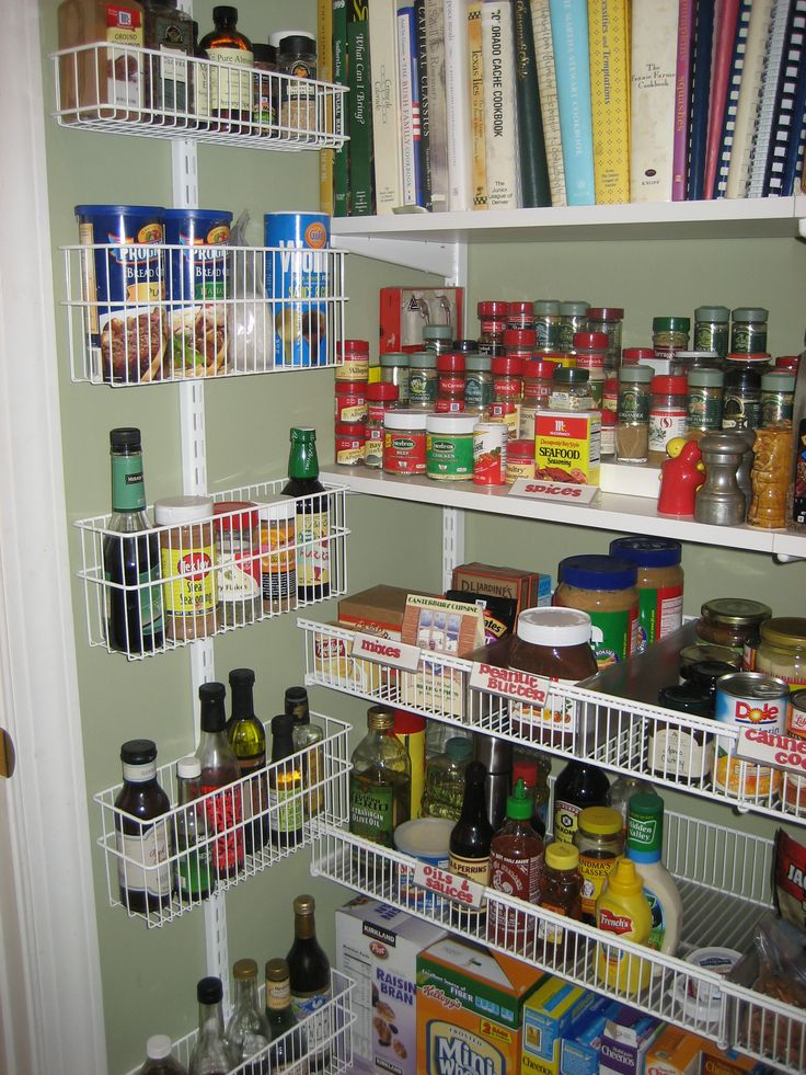 "Pantry ""after"" - door & wall rack inside left wall"