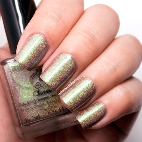 F.U.N Lacquer Clover Nail Lacquer Review & Swatches—New Year Collex 2014   Wink And Blush