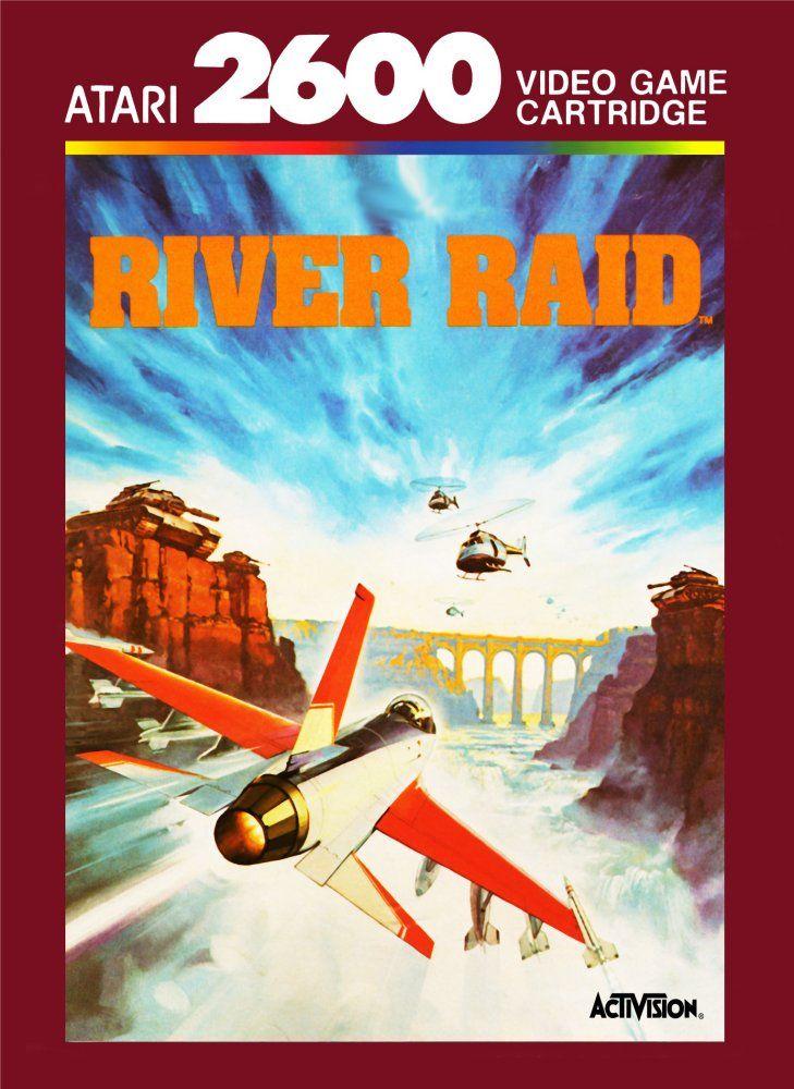 Capa de River Raid para Atari 2600.