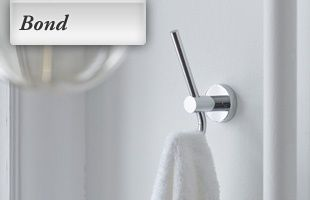 Bond robe hook in chrome finish