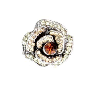 Pierścionek Vintage z Miodowymi Kryształkami Róża #ring #vintage #pierscionek