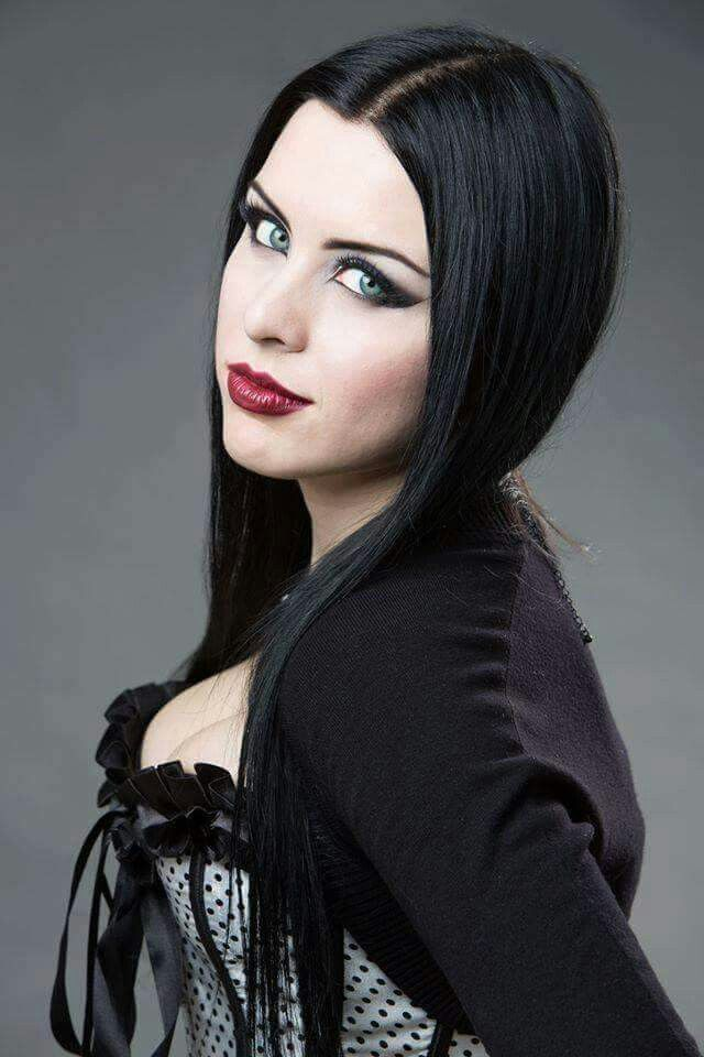 Gothic Black Hair and Smile