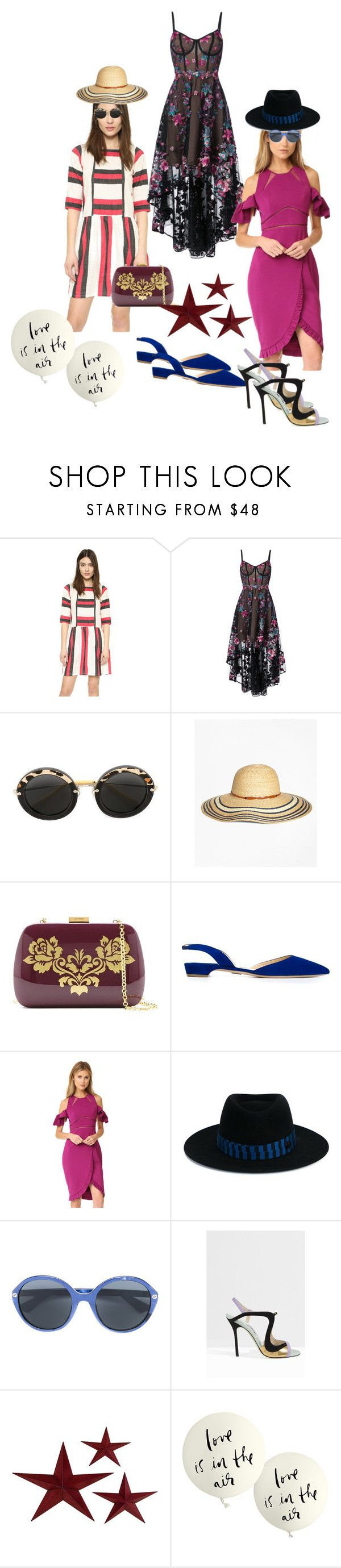 """Summer needs"" by ramakumari ❤ liked on Polyvore featuring Notte by Marchesa, Miu Miu, Brooks Brothers, Serpui, Paul Andrew, Three Floor, Maison Michel, Gucci, Giannico and Kate Spade"