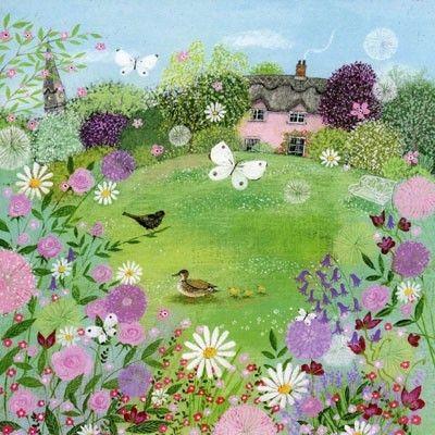 Springtime garden, Lucy Grossmith