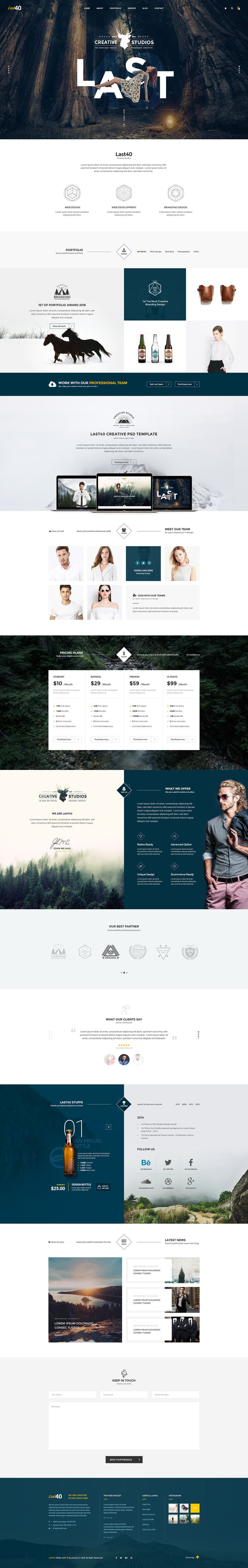 the whole package here : http://themeforest.net/item/last40-creative-psd-template/16007208?s_rank=1