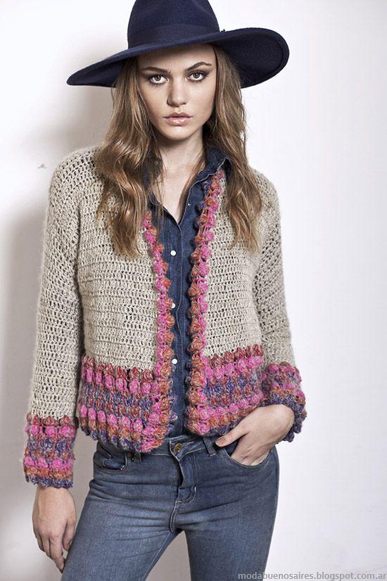 Florencia Llompart colección otoño invierno 2014. Moda tejidos ...