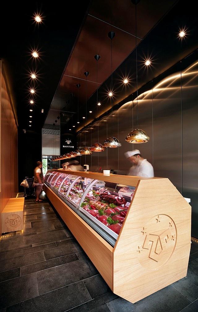 Suyabatmaz Demirel Mimarlık tarafından tasarlanan kasap dükkanı Erenköy'de bulunuyor.