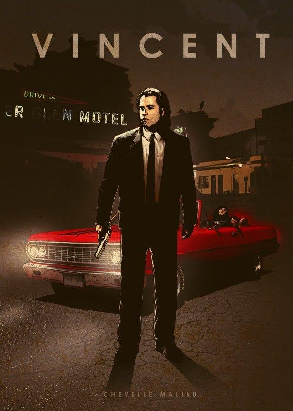 Car Legend: Vincent Vega: John Travolta: Chevrolet Chevelle Malibu: Pulp Fiction
