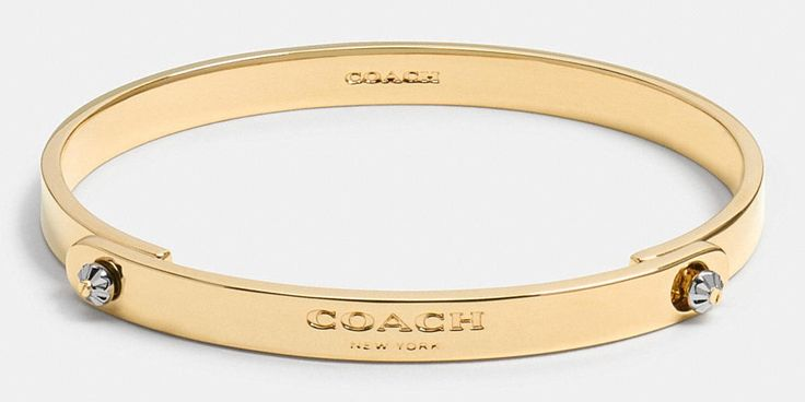 Coach 1941 DAISY rivet coach tension bangle gold
