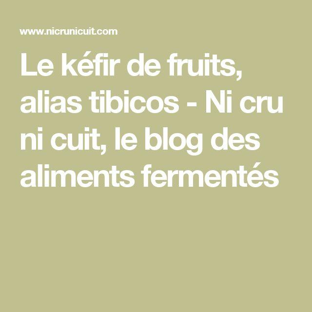 Le kéfir de fruits, alias tibicos - Ni cru ni cuit, le blog des aliments fermentés