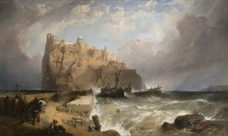 The Castle of Ischia from the Mole, Italy  by  Clarkson Frederick Stanfield (British 1793–1867)