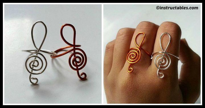 DIY Treble Clef Ring Tutorial