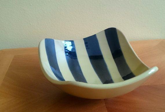 Gabriel Keramik Sweden Tropik bowl 1950s 1960s by JohannasGaze