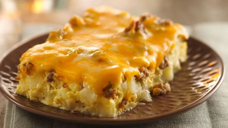 Spice up your breakfast menus by serving an egg casserole featuring spicy sausage, green chiles and salsa.