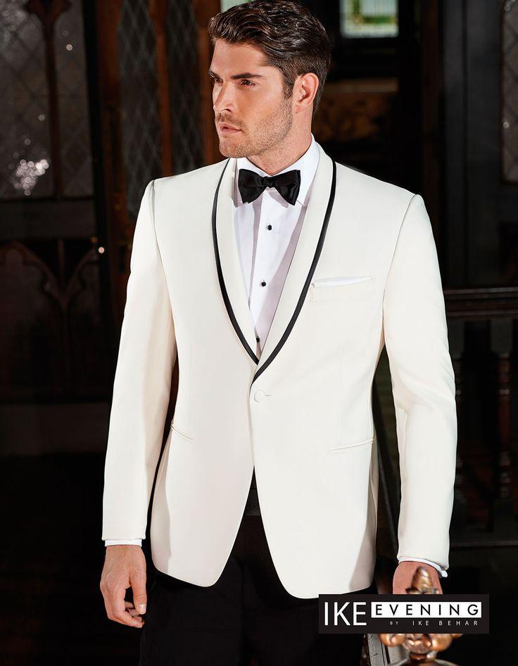 Ivory waverly tuxedo jacket
