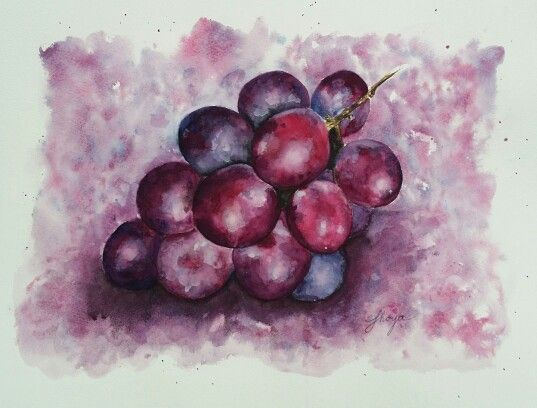 Fruity moments 30x40 cm watercolour painting