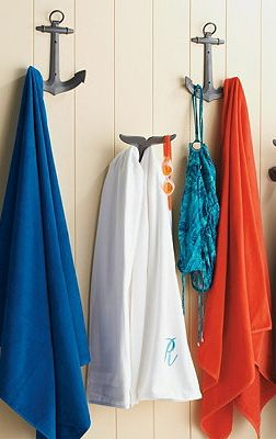 Fun outdoor accessories.  Frontgate towel hooks.  We ordered these for Tranquility Cove along with the sea horses.