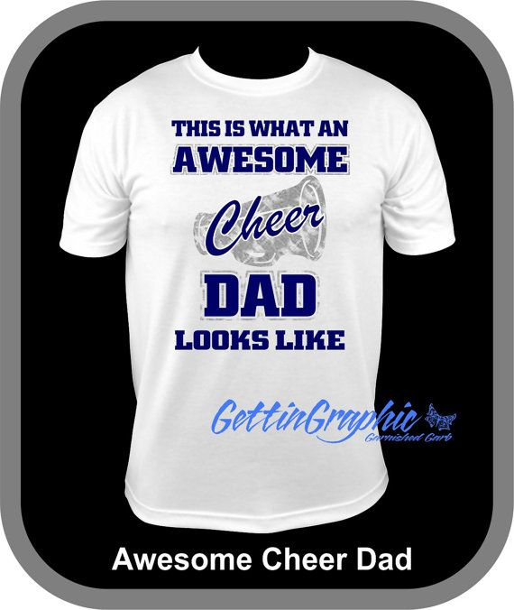 Hey, I found this really awesome Etsy listing at https://www.etsy.com/listing/256331768/awesome-cheer-dad-unisex-t-shirt