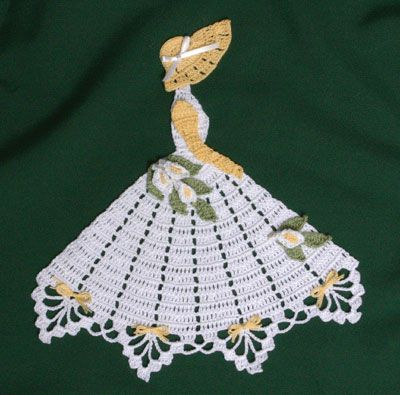 Ms Lily Crinoline Girl Doily-crochet pattern to buy