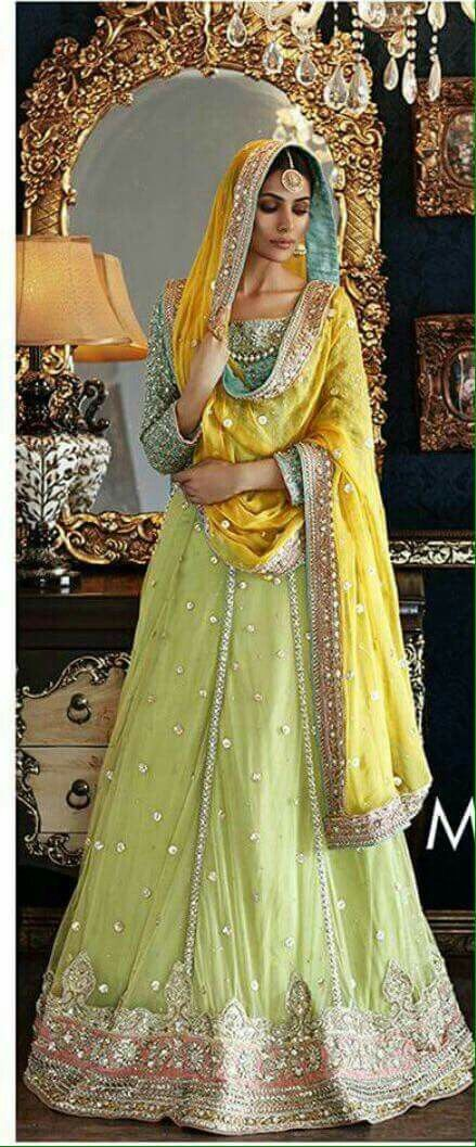 My yellow and pink mehenga will be like this