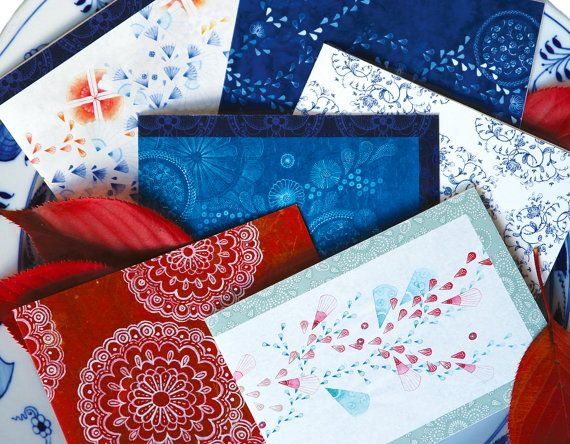 Set Of Six Art Cards on Archival Bamboo Paper by naturewrap, $33.00