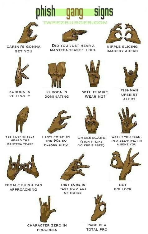 Phish Gang Signs