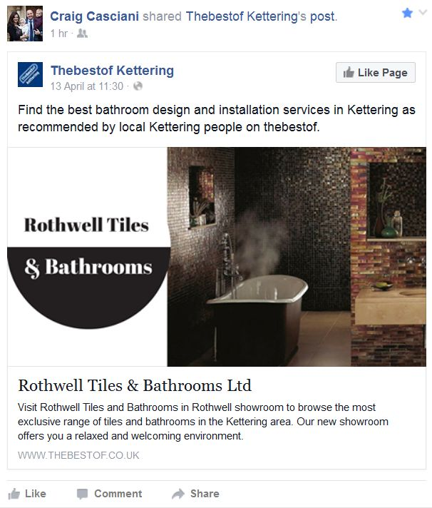 Reviews rothwell kettering bathrooms rothwell tiles for Bathroom design kettering