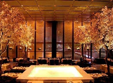 Four Seasons Restaurant NYC - Years ago there was a trattoria downstairs from the Four Seasons, which shared the same kitchen (different menu). We 'struggling artists' couldn't afford to eat upstairs (although every once in a while we'd get all dressed up and go have a drink in the bar), but the food in the trattoria was more rustic, cheaper and delicious!