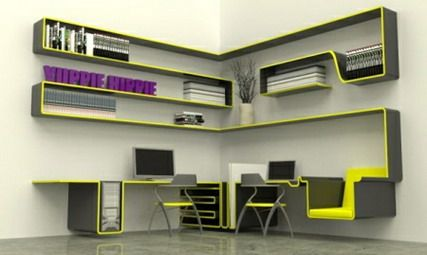 """Innovative designing ideas by """"Nafees Interiors"""" for small offices in home"""