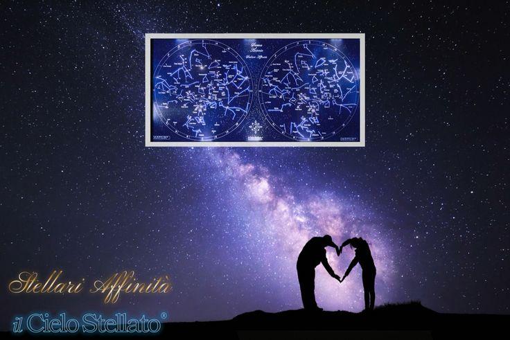 """""""Stellari Affinità"""" Quadro stellare in LED e fibra ottica, celebra l'amore. Composto dai cieli stellati della nascita di due persone. Si installa facilmente in casa come un quadro da parete, trasformatore DC12V incluso.  Un regalo unico e personalizzato per celebrare in modo originale un matrimonio, un anniversario, un fidanzamento. Dillo con le stelle anche tu! Per informazioni non esitate a contattarci.   Il Cielo Stellato è prodotto e distribuito da:  C.R.A.F.T. S.r.l.  Via dei Castagni…"""