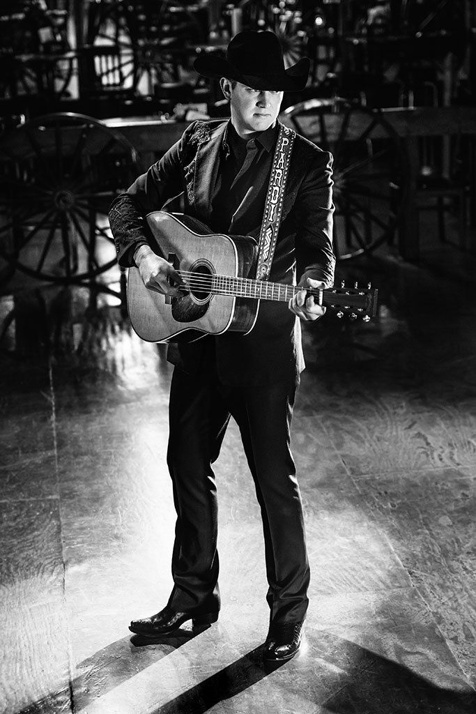 """Jon Pardi photographed in his Lucchese boots for the latest story by Footwear News: """"The Cowboy Boots Nashville's Rising Stars Are Wearing"""""""