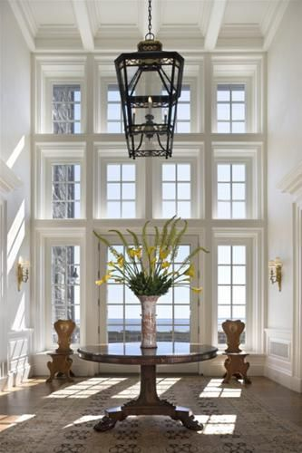 Foyer Chandelier Window : Best ideas about tall windows on pinterest tropical